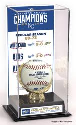 Kansas City Royals 2014 American League Champions Gold Glove Display Case