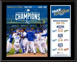 "Kansas City Royals 2014 American League Champions Sublimated 12"" x 15"" Plaque"