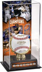 San Francisco Giants 2014 World Series Champions Gold Glove with Image Display Case