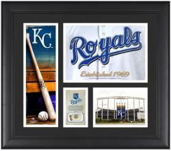 Kansas City Royals Team Logo Framed 15'' x 17'' Collage with Piece of Game-Used Ball - Mounted Memories