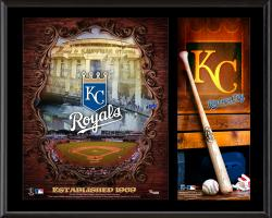 Kansas City Royals Sublimated 12'' x 15'' Team Logo Plaque - Mounted Memories