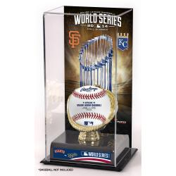 Kansas City Royals vs. San Francisco Giants 2014 World Series Matchup Gold Glove 10'' x 5.5'' Baseball Display Case