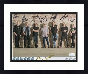 KANSAS HAND SIGNED 8x10 COLOR PHOTO   RARE    SIGNED BY ALL    TO MICHAEL    JSA