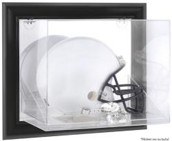 Kansas Jayhawks Black Framed Wall-Mountable Helmet Display Case