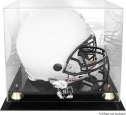 Kansas Jayhawks Golden Classic Logo Helmet Display Case with Mirrored Back