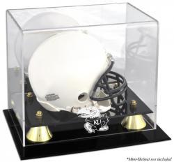 Kansas Jayhawks Golden Classic Logo Mini Helmet Display Case