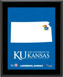KANSAS JAYHAWKS (STATE) 10x13 PLAQUE (SUBL) - Mounted Memories