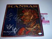Kansas Masque 4/signatures Jsa/coa Signed Lp Record Album