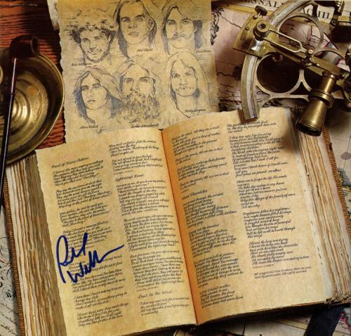 Kansas Richard Williams Signed Autographed Album Sleeve Insert UACC RD COA AFTAL