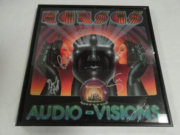 "Kansas Signed Framed ""audio-visions"" Album Kerry Livgren  4 Original Proof"