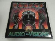 "Kansas Signed Framed ""audio-visions"" Album Kerry Livgren  4 Original Jsa Coa"