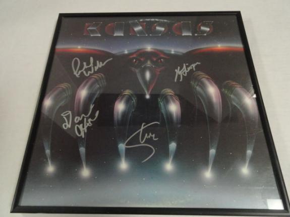 "Kansas Signed Framed ""song For America"" Album Kerry Livgren  4 Original Proof"