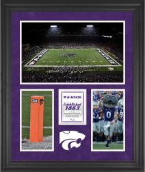 "Kansas State Wildcats Bill Snyder Family Football Stadium Framed 20"" x 24"" 3-Opening Collage"