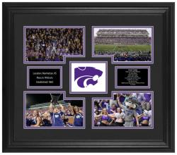 Kansas State Wildcats 4-Photograph Framed Collage - Mounted Memories