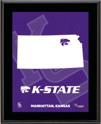 KANSAS STATE WILDCATS (STATE) 10x13 PLAQUE (SUBL) - Mounted Memories