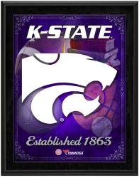 "Kansas State Wildcats Team Logo Sublimated 10.5"" x 13"" Plaque - Mounted Memories"