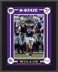 "Kansas State Wildcats Willie Mascot Sublimated 10.5"" x 13"" Plaque"