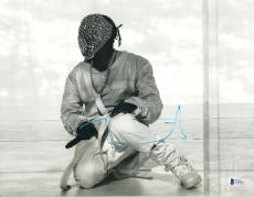 "Kanye West Autographed 11"" x 14""  Wearing Mask Photo - BAS COA"