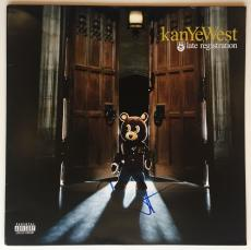 KanYe West Autographed 'late registration' Album signed. PSA/DNA COA.    rare!