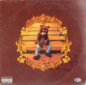 Kanye West Autographed The College Dropout Album Cover - BAS COA