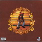 Kanye West Autographed The College Dropout Album Cover with Vinyl - BAS