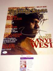 Kanye West Hand Signed 11x14 Photo Kim Kardashian JSA Cert Hip Hop Rapper