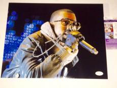 Kanye West Hand Signed 11x14 Photo Kim Kardashian JSA Cert Hip Hop Rapper