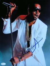Kanye West Signed Autographed 11X14 Photo On Stage White Suit JSA Z37094