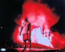 Kanye West Signed Autographed 11X14 Photo On Stage with Smoke JSA Z37095