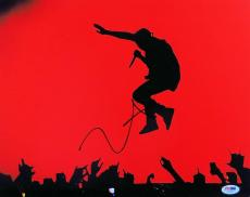 Kanye West Signed Autographed 11X14 Photo Singing Jump in Air PSA AC99390