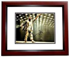 Kanye West Signed - Autographed Yeezus Concert 11x14 inch Photo MAHOGANY CUSTOM FRAME - Guaranteed to pass PSA or JSA