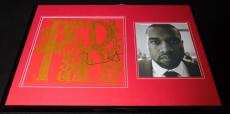 Kanye West Signed Framed 18x24 My Beautiful Dark Twisted Fantasy Album Display