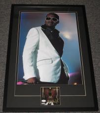 Kanye West Signed Framed 22x33 CD & Poster Photo Display JSA Late Registration