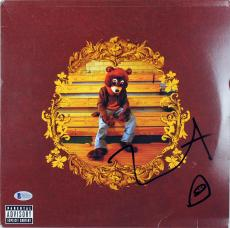 Kanye West Signed The College Dropout Album Cover W/ Vinyl BAS #D17678