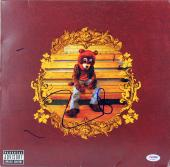 Kanye West Signed The College Dropout Album Cover W/ Vinyl PSA/DNA #AC56582