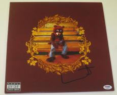 Kanye West Signed The College Dropout Album Vinyl Authentic Autograph Psa/dna Co