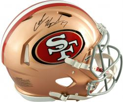 Colin Kaepernick San Francisco 49ers Autographed Riddell Pro Line Speed Authentic Helmet - Mounted Memories