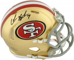 Colin Kaepernick San Francisco 49ers Autographed Riddell Speed Mini Helmet - Mounted Memories