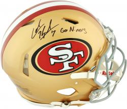 Colin Kaepernick San Francisco 49ers Autographed Riddell Pro Line Speed Authentic Helmet with Go Niners Inscription