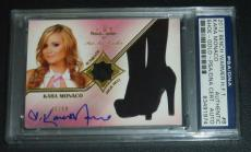 Kara Monaco Signed 2012 BenchWarmer Hot For Teacher High Heel Shoe Card PSA/DNA