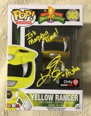 Karan Ashley Signed Autographed Yellow Funko Pop Power Rangers Beckett BAS COA 3