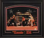 Karate Kid Action Scene 16x20 Photo Signed by Ralph Macchio and William Zabka w/ Custom Frame