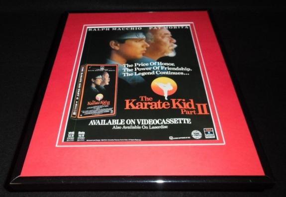 Karate Kid II 1986 Framed 11x14 ORIGINAL Vintage Advertisement Ralph Macchio