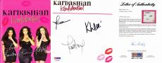 Kardashian Konfidential Signed - Autographed Book - Kourtney, Khloe, and Kim Kardashian - Keeping up with the Kardashians - PSA/DNA FULL Letter of Authenticity (COA)