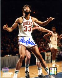 "Milwaukee Bucks Kareem Abdul-Jabbar Autographed 8"" x 10"" Photo - Mounted Memories"