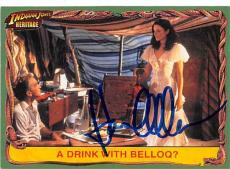 Karen Allen autographed trading card Indiana Jones 2009 Topps Heritage #11 Drink with Belloq