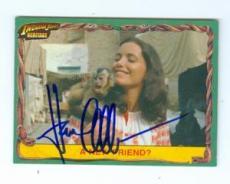 Karen Allen autographed trading card Indiana Jones 2009 Topps Heritage #11 MONKEY