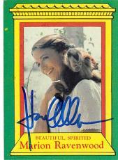 Karen Allen autographed trading card Indiana Jones #3 Marion Ravenwood