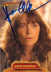 Karen Allen autographed trading card Indiana Jones Crystal Skull 2009 Topps #4 Marion Ravenwood