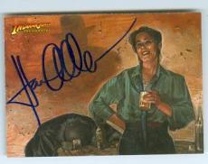 Karen Allen autographed trading card Indiana Jones Masterpieces 2008 Topps #42 Marion Ravenwood
